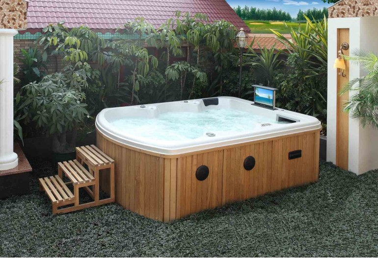 Spa jacuzzi hidromasaje de exterior as 020 for Piscina jacuzzi exterior