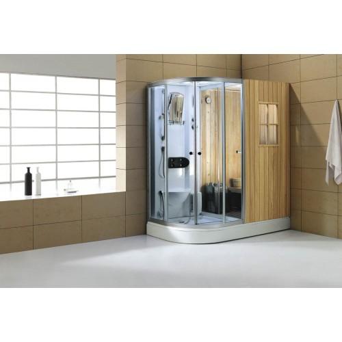 Sauna seca + sauna húmeda con ducha hidromasaje AS-001