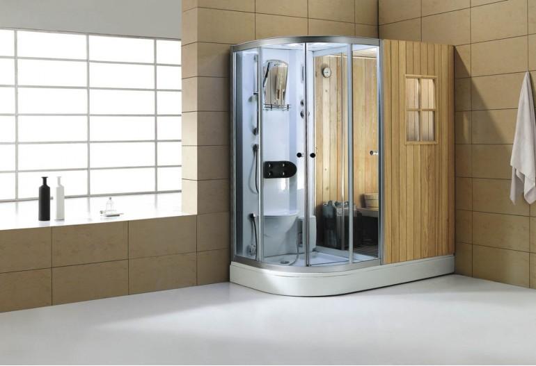 Sauna seca sauna h meda con ducha hidromasaje as 001 - Productos para sauna ...