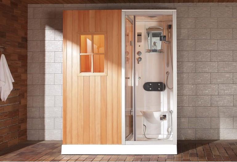 Sauna seca sauna h meda con ducha hidromasaje as 002 hidrosauna - Cabinas de ducha con sauna ...