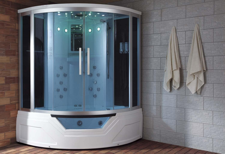 Cabina Sauna Vapor : Cabina hidromasaje y bañera con sauna at a