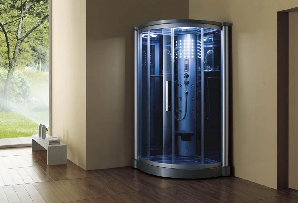 Cabina hidromasaje con sauna as 012 for Cabina sauna