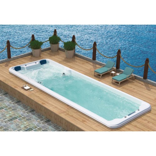 Piscinas hidromasaje y nado contracorriente swim spas al for Piscinas con jacuzzi precio