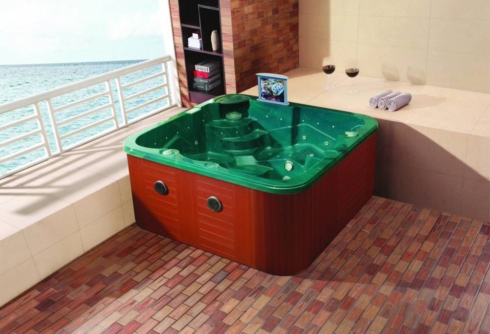 Spa jacuzzi hidromasaje de exterior at 007b for Jacuzzi exterior enterrado