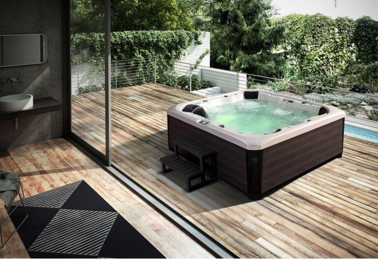 spa jacuzzi hidromasaje de exterior au 002. Black Bedroom Furniture Sets. Home Design Ideas