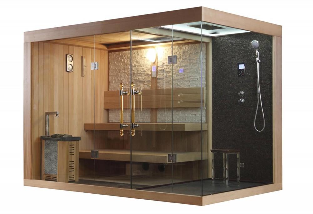Sauna seca sauna h meda con ducha at 002c - Productos para sauna ...