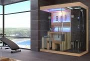 Sauna seca y sauna húmeda con ducha AT-001B