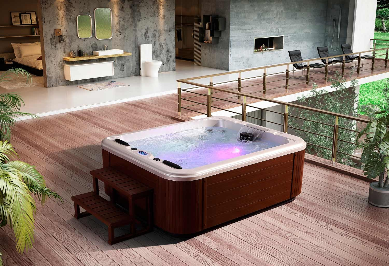 Como hacer un jacuzzi cheap piscina de hidromasaje swim for Construir jacuzzi exterior