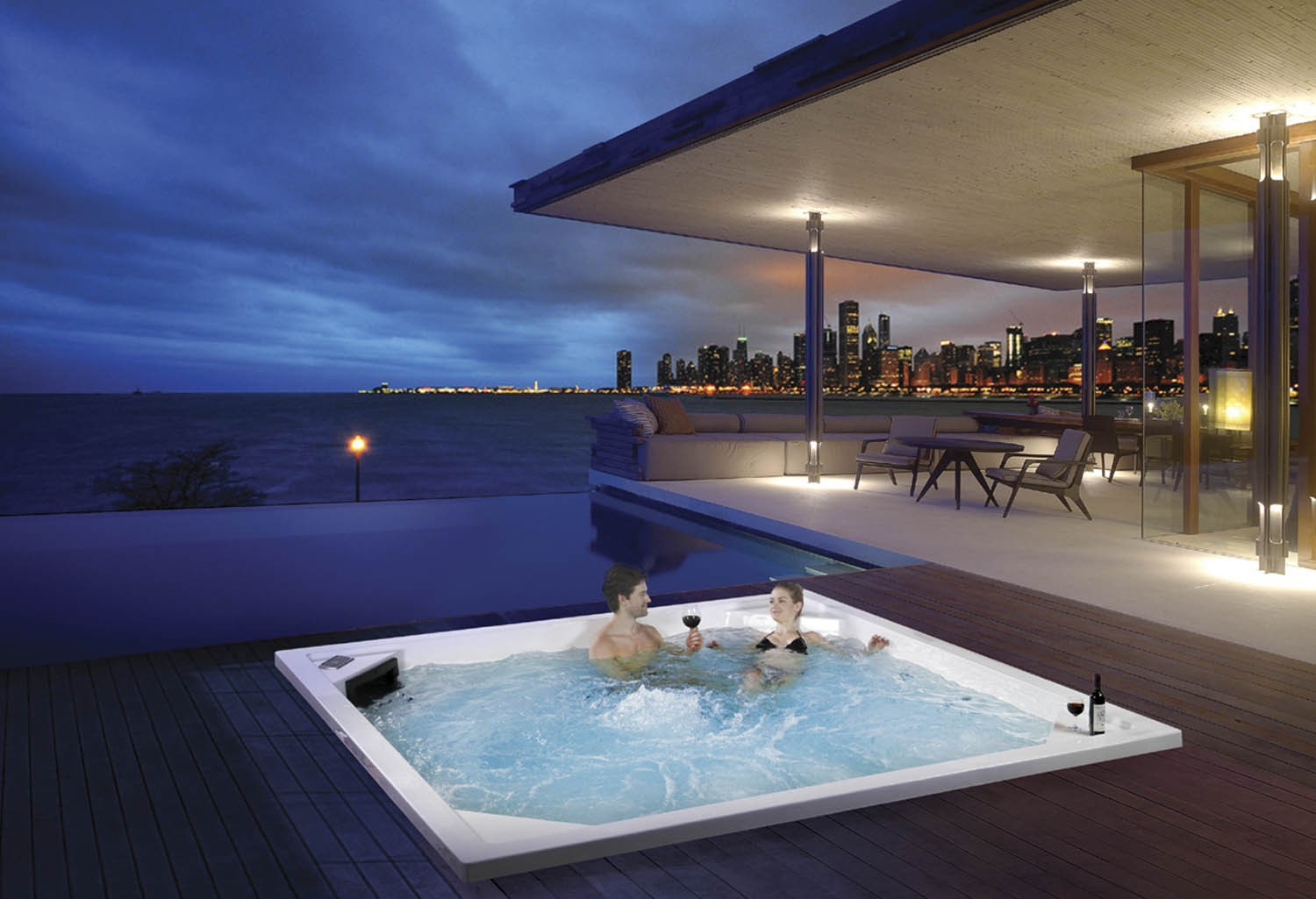 Tamano Jacuzzi.Spa Jacuzzi Exterior Cool Spa Jacuzzi Exterior With Spa