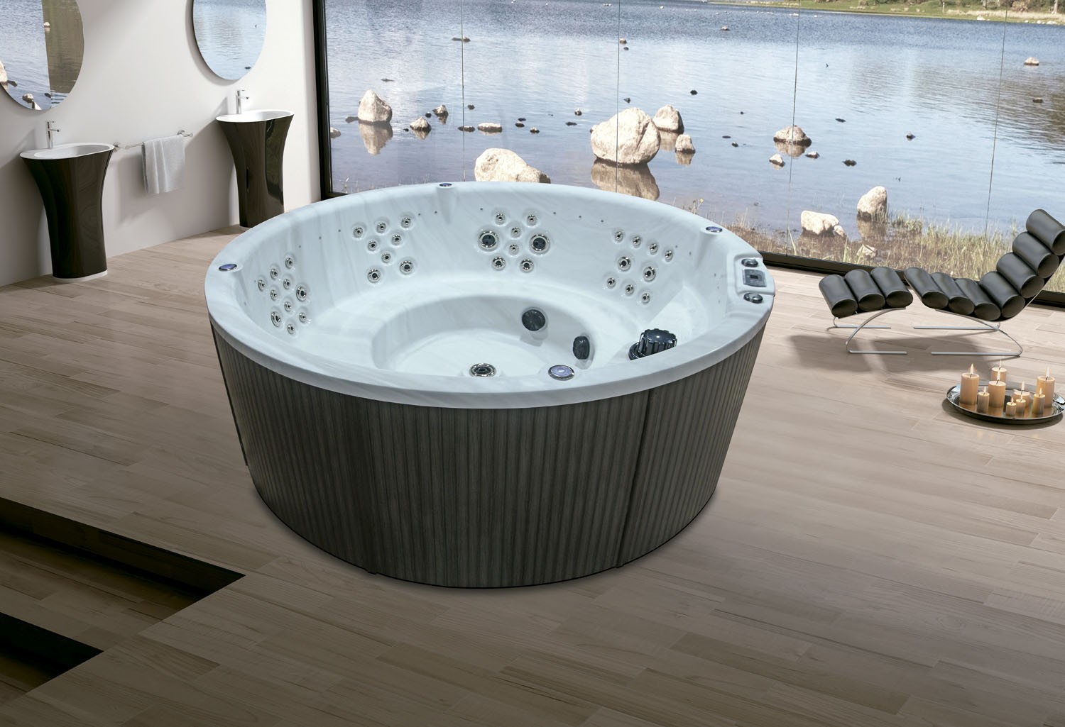 Precios jacuzzi exterior latest spa plazas gre with for Jacuzzi exterior barato