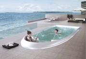 Piscina de hidromasaje swim spa AT-010A