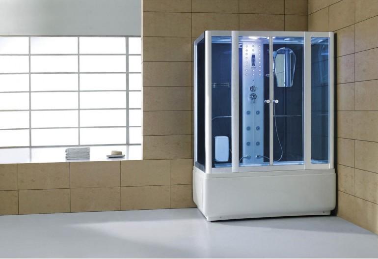 Cabina hidromasaje y bañera con sauna AT-008C
