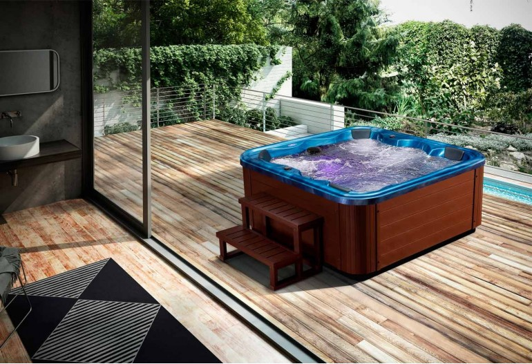 spa jacuzzi hidromasaje de exterior aut 001. Black Bedroom Furniture Sets. Home Design Ideas