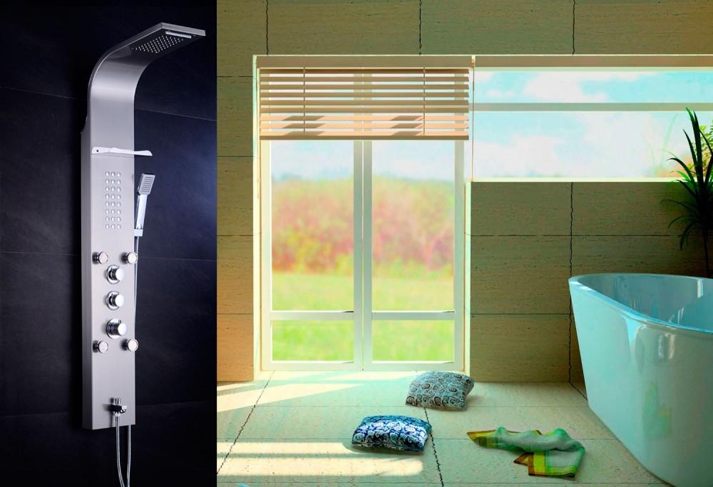 Columna de ducha hidromasaje termost tica at 001c - Columnas de ducha termostaticas ...